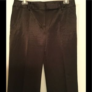 DKNY City Brown Satin Women's Slacks